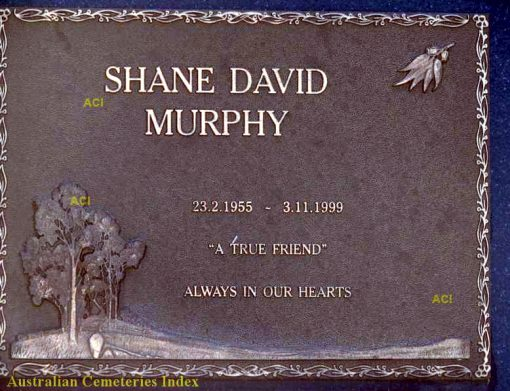 Grave of Shane David MURPHY