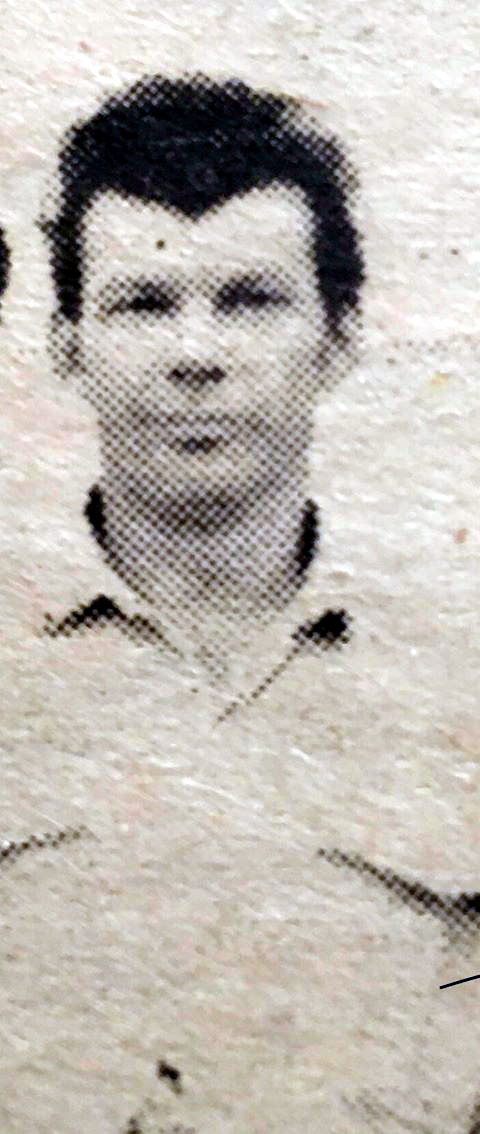 A newspaper cutting of Gary Page, cropped from a group photo taken in the early seventies.
