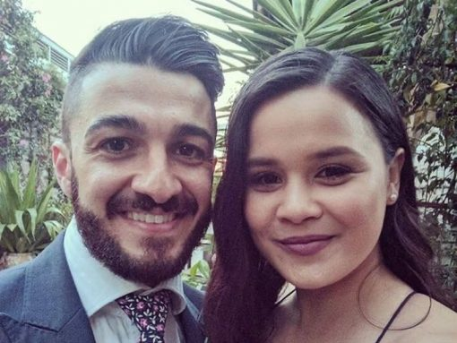 Mr Vidal pictured with his fiancee. The couple had been planning their upcoming wedding. (NSW Police)