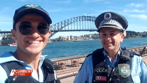 David Vidal and his son Aaron were both in the New South Wales Police Force. (A Current Affair)