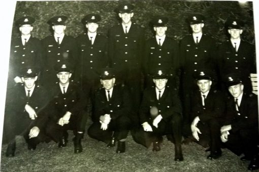 This is a photo of members from my class 103 in 1965 who went from the Academy to Regent Street Police Station. I TOP ROW left to right: Les GRAY, Bill OSBORNE, Don McMILLAN, Ken EARL # 11490 ( RIP - June 2020 ), Graham GUNN, Lindsay SPENCE, Graham SPRING.<br /> BOTTOM ROW left to right: Danny CUSACK, Don HAMILTON, ? , Ken ?, Bob SEPPING, and Robert WALKER.
