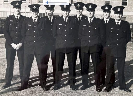 Part of Class 124.<br /> Richard HURST ( first on the right )<br /> Kevin RAUE ( 3rd from right ) ( RIP - 4 June 2020 )<br /> Photo via Phillip Brand.