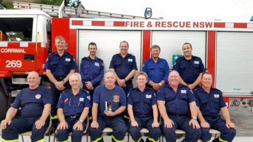 Corrimal Fire &amp; Rescue 269<br /> Peter ROMELINGH - 1st on left in rear.