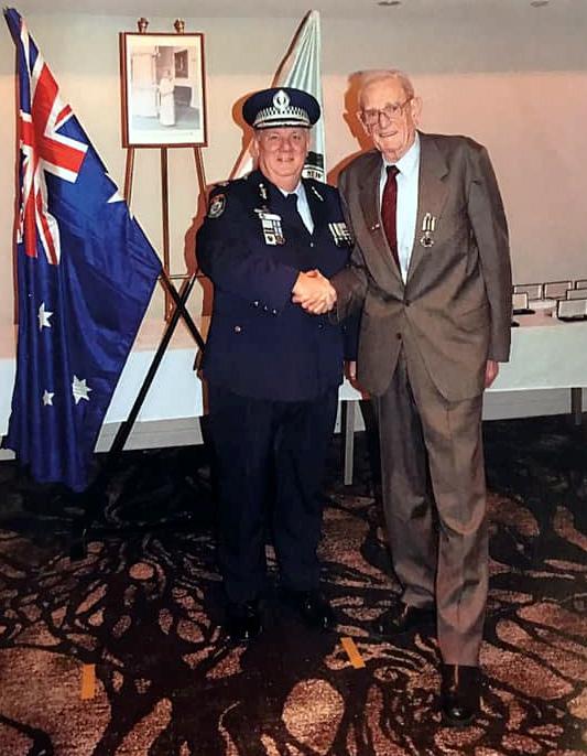 Assistant Commissioner Dennis CLIFFORD # 14795 with Warren John REID.