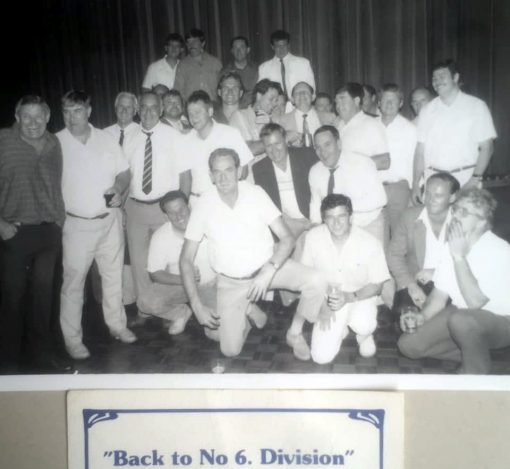 Warren REID front and centre with North Sydney's Finest at a Reunion.