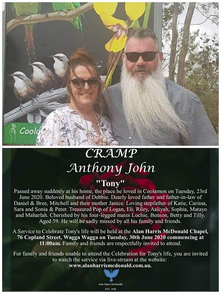 Anthony John CRAMP AKA Tony CRAMP