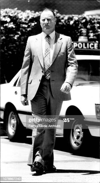 <strong>Brian Hetherington, Detective</strong>, at Maroubra Police Station... <strong>Inspector Hetherington</strong>...cleared in an investigation. <strong>November 22, 1983</strong>. (Photo by Paul Matthews/Fairfax Media via Getty Images). <br /> <br />