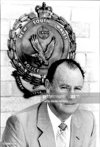 Brian Hetherington, Detective, at Maroubra Police Station... November 22, 1983. (Photo by Paul Matthews/Fairfax Media via Getty Images).