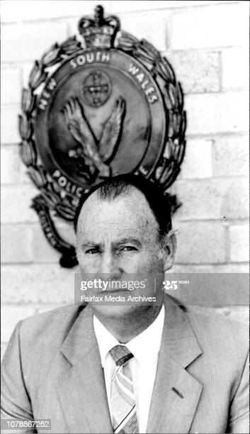 <strong>Brian Hetherington, Detective</strong>, at Maroubra Police Station... <strong>November 22, 1983</strong>. (Photo by Paul Matthews/Fairfax Media via Getty Images).