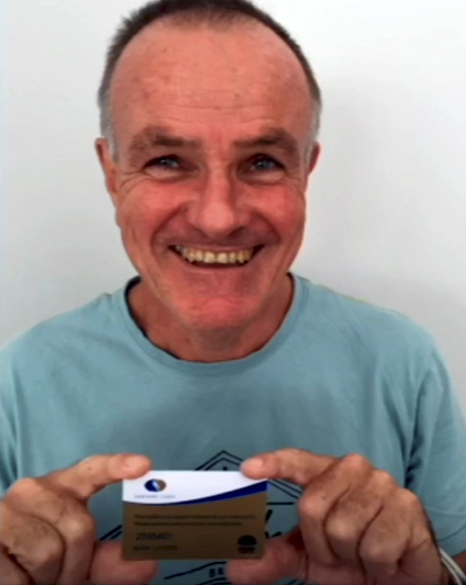Mark LAVERS - Officially an Old Bastard with his Government 'Seniors Card'