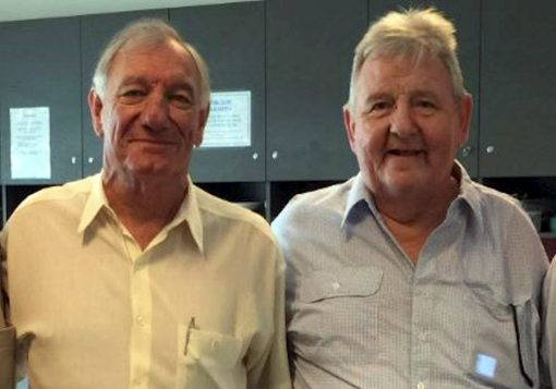 "From John Cooke<br /> 7 September 2020 - NSW Fallen Police:<br /> Homicide Squad reunion at Police HQ in 2016 with Geoff McDowell on left &amp; Wilfred ' Bill "" TUNSTALL ( who died shortly after in 2016 ).<br /> Both Geoff and Bill received bravery awards following a siege at Granville in 1975 in which Bill received a gunshot wound to his shoulder/arm. Geoff continued to back up Bill despite being severely affected by tear gas. The offender died in the shootout."