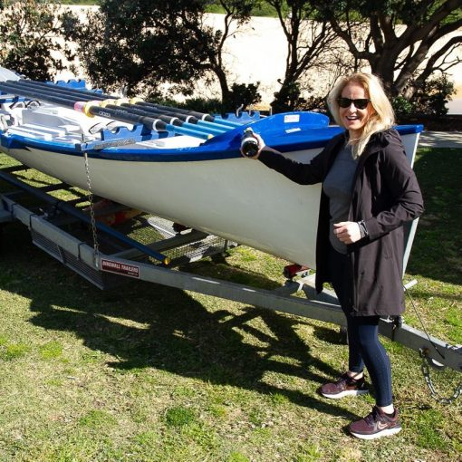 Our newly purchased boat being christened 'Ross Lambert' by Cath Lambert at the Club AGM day