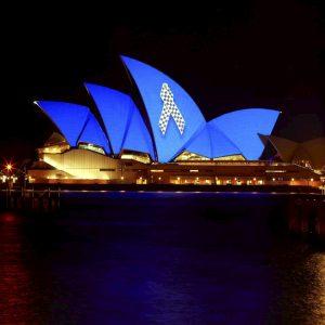 Sydney Opera House Police Memorial Ribbon Police Remembrance Day 29 September 2020