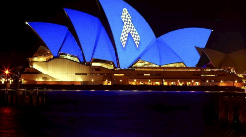 Sydney Opera House Police Memorial Ribbon Police Remembrance Day 29 September 2020