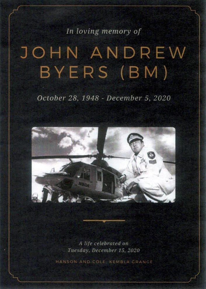 John Andrew BYERS, John BYERS, JB