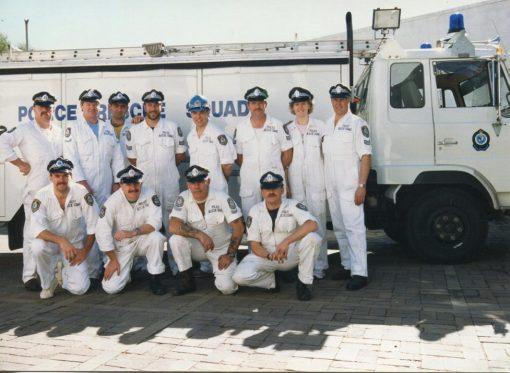 Rescue 27 - Blacktown. Back Row ( L - R ) ?, ?, ?, ?, ?, ?, Trevor Lloyd WATKINS #18284 Front Row ( L - R ) ?, ?, Col 'Pussa' KELSON, ? https://www.australianpolice.com.au/lisa-ann-camwell/ https://www.australianpolice.com.au/trevor-lloyd-watkins/