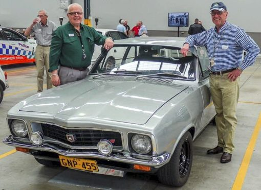Udo STARKIS # 13470 & John SOLVYNS # 15484 with a former HWP GTR Holden Torana - Regd # GNP-455