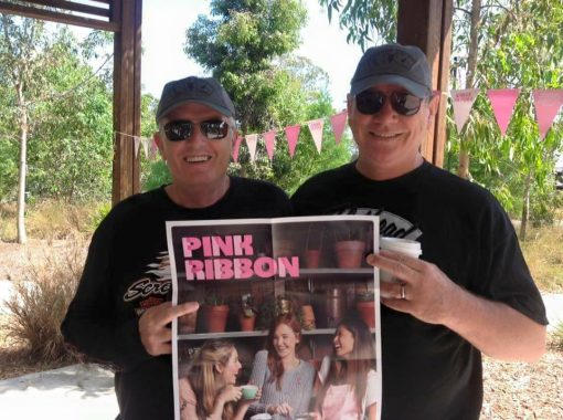 "Raymond Charles ROBINSON, Ray ROBBO, Ray ROBINSON. Ray Robinson ""ROBBO"" & Mal BROWN attended a Breast Cancer BBQ this morning. Neither of us wear or own anything pink so money went into the donation bucket. 10 November 2016"