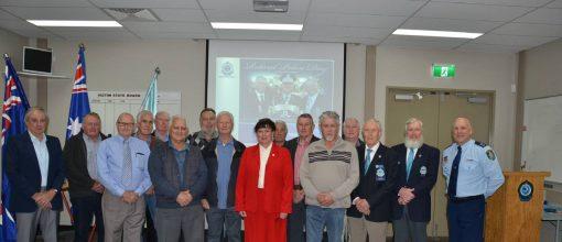 Former Shoalhaven police and now retired officers at the local Retired Police Officers Day with Shoalhaven Local Area Command Acting Superintendent Joe Thone (far right) Ron Akhurst, Nev Whalan, Bob Groensten, Jack Thoroughgood, John Rudd, Bryant Smith, Ron Cox, Mick Rigg, Jayne Hewitt, Doug McLeod, Adrian Danslow, Bob Hutchison, Steve Jones, Bob Williamson and John Crockett.