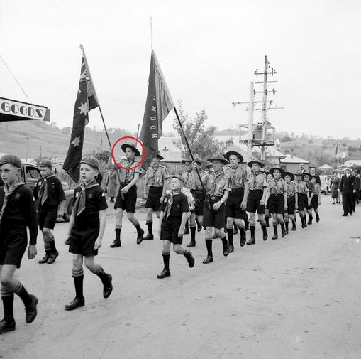 Bob Dines on parade on ANZAC day in Picton